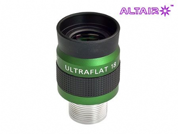 Altair 18mm ULTRAFLAT Eyepiece - parallel barrel stainless steel